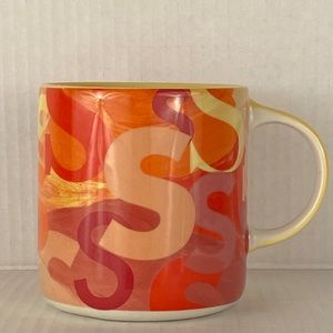 """Anthropologie coffee mug personalized """"S"""" NWOT cup"""